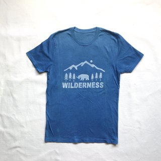 Indigo dyed 藍染 organic cotton - WILDERNESS TEE