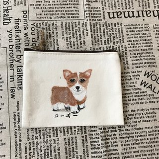 Hand-painted design canvas fur kids purse / exchange gifts
