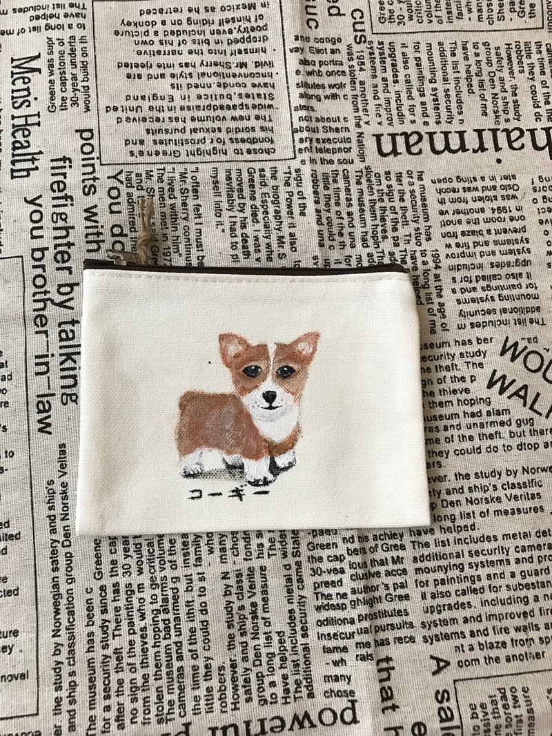 Hand-painted design canvas hair kids purse / exchange gift