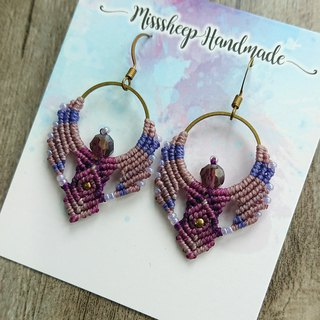 Misssheep-A116- Bohemian ethnic style South American wax line woven earrings