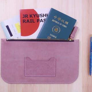 Simple leather passport pocket. Small storage bag. Multi-color optional