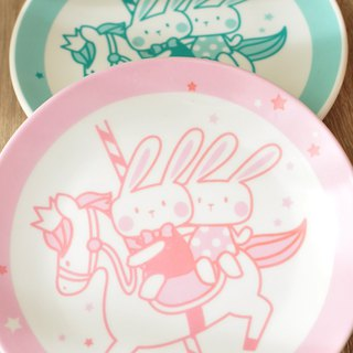 [SUMAIRU] carousel smile disc / cake plate 5 into the group | color can be optional