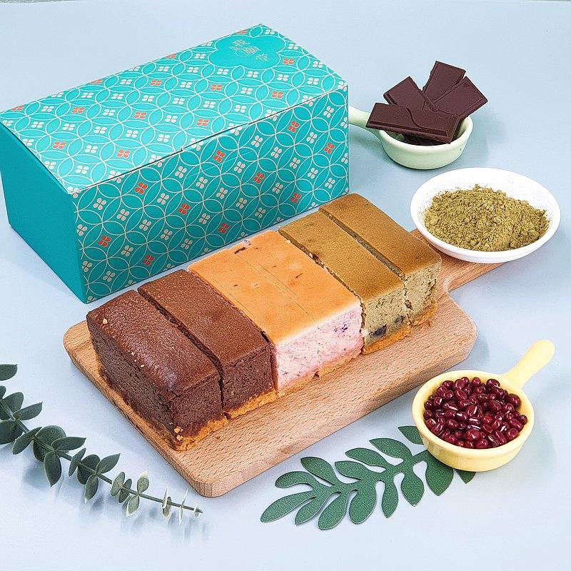 │多種口味│三色濃濃厚乳酪蛋糕 比利時巧克力+藍莓+靜岡抹茶