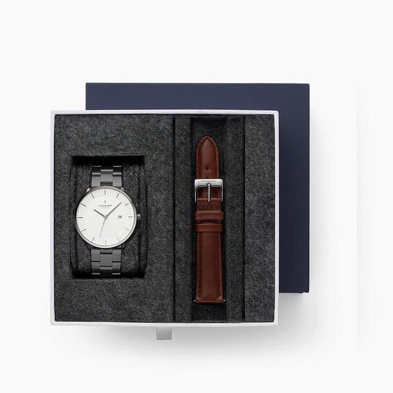 【Nordgreen】Philosopher哲學家深空灰系列三珠精鋼手錶禮盒組