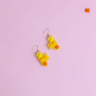 Summer Fun Yellow Geometric Silver Earrings