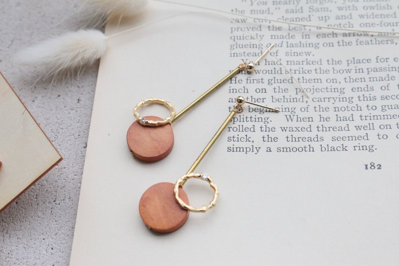 Wooden earrings 1172 - play together
