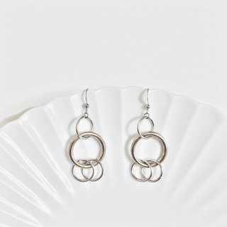 Marygo Silver Continuous Double Circle 2.0 Earrings