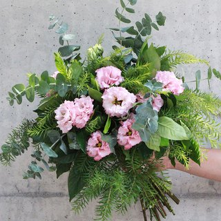 Blooming flowers - pink green cheap American wedding bouquet #1609
