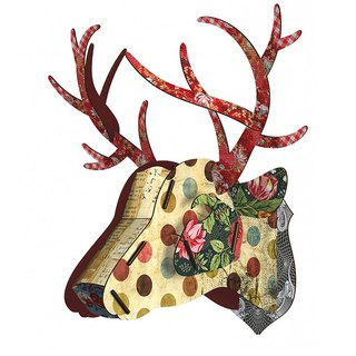 SUSS-Italian MIHO wooden deer head high quality home decoration / wall decoration - extra large size (Big-35)
