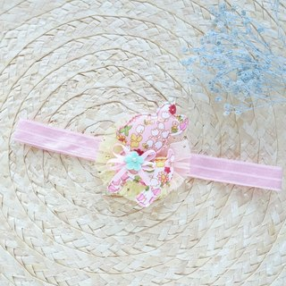 Baby headband - pink rabbit hair band (100 days banquet for personal use)