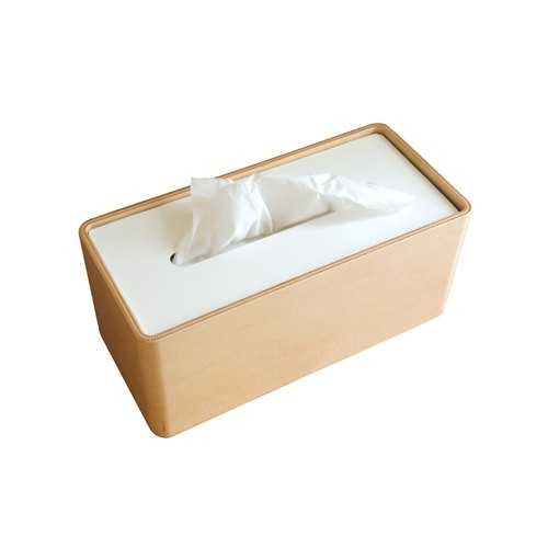 Da-05 WH Wooden Sided Carton - White