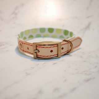 Dog collars, M size, light green watermelon_DCJ090436