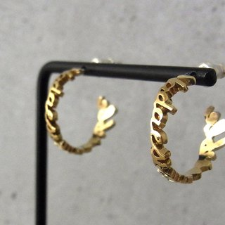 NI hoop earrings / brass