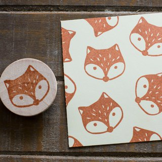 Friends of the forest series of small fox engraved hand-carved rubber stamp chapter