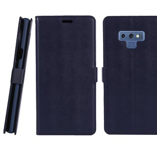 CASE SHOP Samsung Galaxy Note9收納側掀皮套-藍(4716779660296)