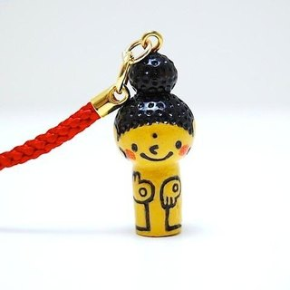 mini Kokeshi * Amitabha customers * strap * smiling [10]