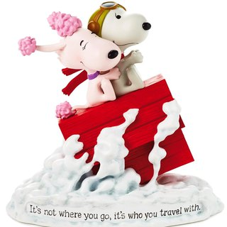 Snoopy Movie Handmade Sculpture - My Flying Lover [Hallmark Snoopy Handmade Sculpture]
