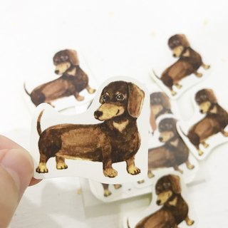 Puppy Series Sticker-Stickers,Watercolor,illustrations,Sticker,Dachshund Sticker,cute Stickers,Handmade Sticker,Laptop Sticker