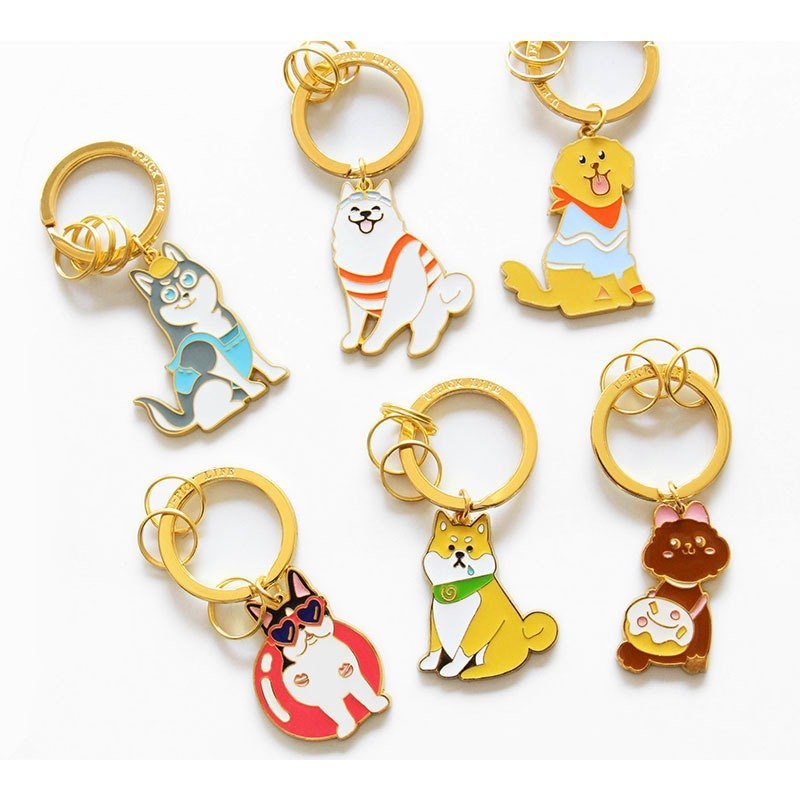 UPICK original life pet key chain key ring puppy models
