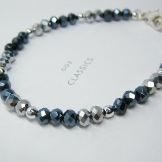 Stylish Trendy Blue Hemitate Silver Bracelet