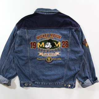[3thclub Ming Hui Tong] the original Mickey mickey retro denim jacket stitching CTJ-003 vintage