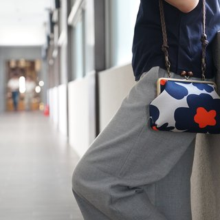 Nordic simple gold bag - blue gray