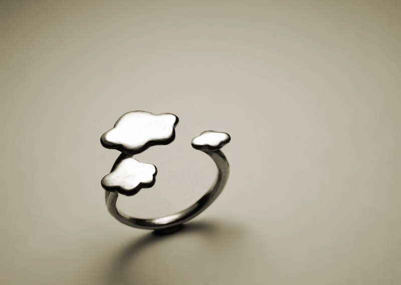Cloud silver ring