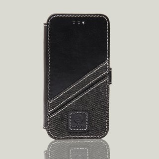 Bronx - iPhone 7 / iPhone 8 Oil wax leather phone back cover - black