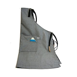 Wool felt Fuji Mountain apron (canvas gray) __made as zuo zuo hand made wool felt apron