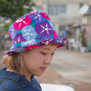 niwa_japanese fabric fisherman hat.morning glory