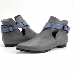 Hope (Grey boots handmade leather shoes)