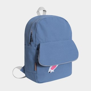 [New upgrade] sleep to fat face fell out - milk bean 喵 rock fog blue canvas backpack