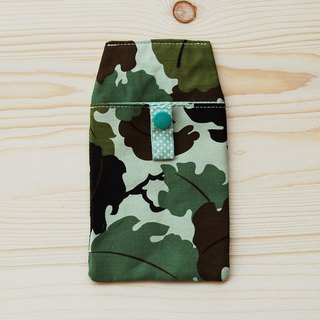 Leaf camouflage pocket pencil bag/document bag