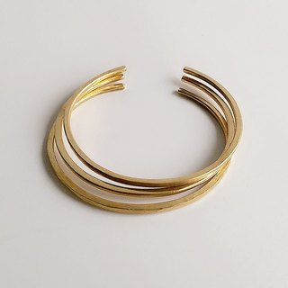 [Primary colors] hand-made brass ring bracelet