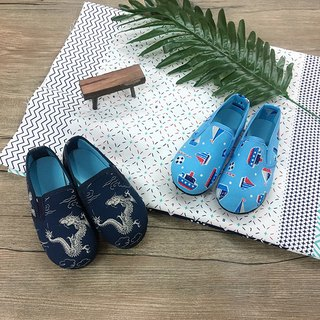 Baby shoes dragon blue