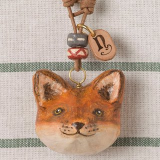 Fox pendant necklace / animal items 錬