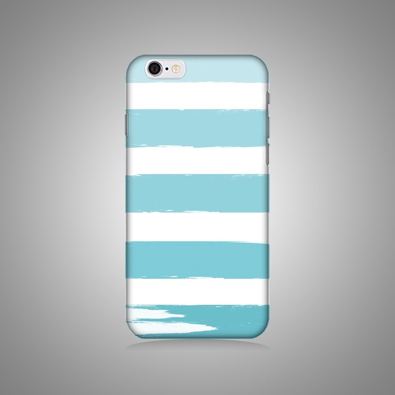 Empty shell series - Blue and green horizontal original mobile phone case / protective cover (hard shell)