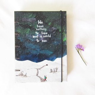 The stars guide their ways. Notebook Handmadenotebook Diary 筆記本 journal