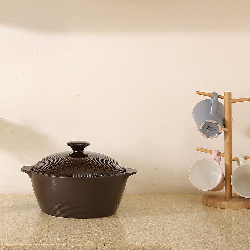 MIYAWO日本宮尾 直火系列10號深型陶土湯鍋棕 送辣媽食譜書