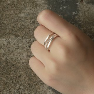 Get a three-ring set - 2mm Young Mimi silver texture thin rings (can buy a single or in combination) Studio d'EL (the service life of metalworking)