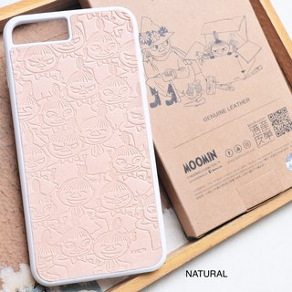 MOOMINx Hong Kong-made leather Ami mobile phone shell material package iPhone officially authorized small point