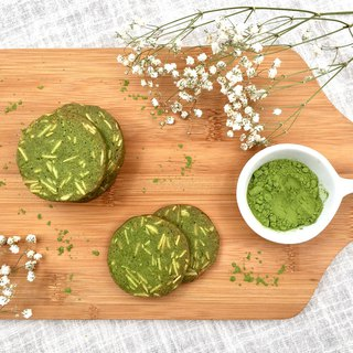Matcha almond bean residue biscuits