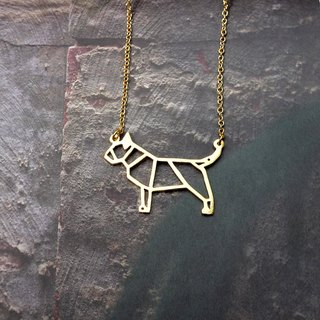 Bull Terrier, Dog Necklace, Origami Necklace, Dog Lover, Dog Gifts