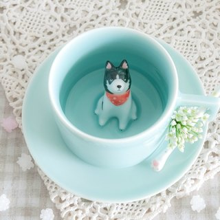 Three shallow ceramic | Original Ranger Dog Mug Meng stupid two goods hand-painted ceramic coffee cup couple