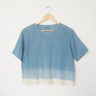 linnil: Indigo shade short-sleeve shirt