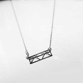 NEW NOISE 音樂飾品實驗所-長款三角舞台架項鍊 Stage truss necklace