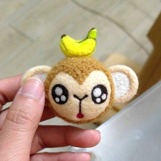 <Wool felt> Monkey with Banana (L Size) by WhizzzPace