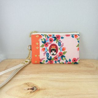 [FXS/Coin Purse] Alice's Dream Flower Mirror. Tangerine