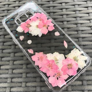 Samsung Galaxy S8 Dry Pressed Flowers Case Pink Flower case 001