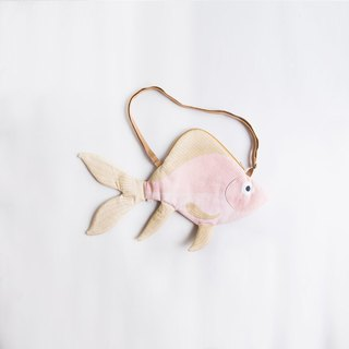 Japanese sea pink goldfish side back pocket | Don Fisher